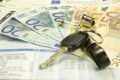 Maintenance costs of a car Stock Images