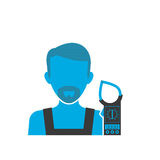 Maintenance electrician blue icon Stock Image