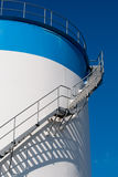 Maintenance ladder on a oil tank Royalty Free Stock Image
