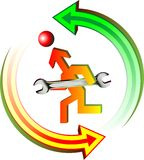 Maintenance logo royalty free illustration