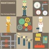 Maintenance People Flat Cartoon Stock Photos