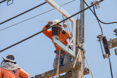 Maintenance of power distribution system 22 kv Royalty Free Stock Image