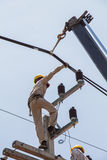 Maintenance of power distribution system 22 kv Royalty Free Stock Photo