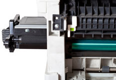 Maintenance printer with inserting toner cartridge Royalty Free Stock Photography