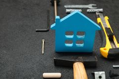 Maintenance property, architect background. Copy space for text stock photos