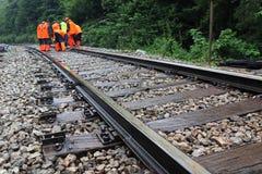 Maintenance of railroad Stock Image
