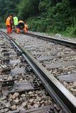 Maintenance of railroad Stock Photo