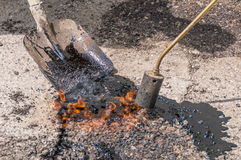 Maintenance of road and highway pavements Stock Photography