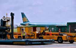 Maintenance in Saigon Airport, VietNam Royalty Free Stock Photography