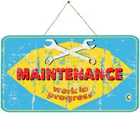 Maintenance sign Stock Photos