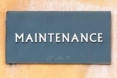 Maintenance Sign Stock Photos