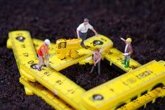 Maintenance team repairing a road Stock Image