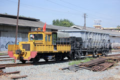 Maintenance train of State railway of thailand Royalty Free Stock Photos