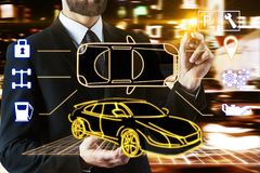 Maintenance and transportation concept Stock Photography