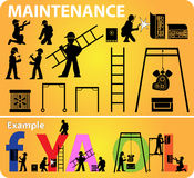 Maintenance web site icon  Stock Photography