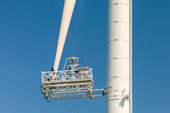 Maintenance of a wind turbine Stock Image