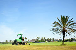 Maintenance work on the golf course of Costa Ballena, Rota, Cadiz province, Spain Stock Photography