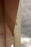 Maintenance. Work at high coast bridge in sweden Stock Image