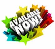 Maintenant 3d disponible exprime le nouvel achat Tod de mise en vente du produit de liste d'étoiles Photographie stock libre de droits
