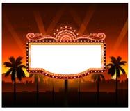Maintenant représentation du signe de bannière de film de théâtre Photographie stock libre de droits