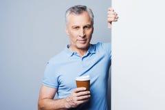 Maintenez café calme et de boissons Photo stock