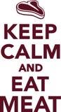 Maintenez calme et mangez de la viande illustration de vecteur