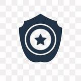 Maintenez l'ordre l'icône de vecteur d'insigne d'isolement sur le fond transparent, Pol illustration libre de droits