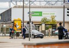 Maintenez l'ordre la zone de surveillance de sécurité à Strasbourg pendant le fonctionnaire Photo stock