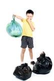Maintenez les déchets dans le sac pour pour éliminer Image stock