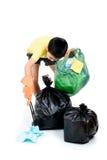 Maintenez les déchets dans le sac pour pour éliminer photographie stock