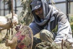 Maintenir d'abeille dans l'Ethiopie Photo stock