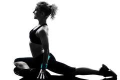 Maintien de forme physique de séance d'entraînement de femme photographie stock