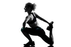 Maintien de forme physique de séance d'entraînement de femme photographie stock libre de droits