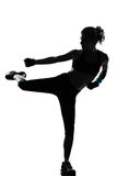 Maintien de forme physique de séance d'entraînement de femme Image libre de droits