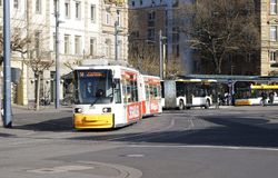 Mainz bus station Royalty Free Stock Image