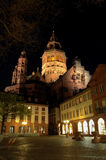 Mainz Cathedral. Night shot of Mainz Cathedral in Mainz, Germany Stock Images
