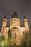 Mainz Cathedral in Germany. Mainz Cathedral during a lovely evening royalty free stock photo