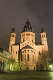 Mainz Cathedral in Germany. Mainz Cathedral during a lovely evening royalty free stock images