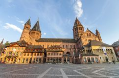 Mainz, Deutschland - 12. Juni 2017: Alte kathedral Dom in Mainz-Stadt, Stockfotografie