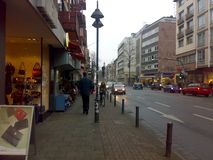 MAINZ, GERMANY - DECEMBER 27, 2007: Architecture and people on the streets city. MAINZ, GERMANY - DECEMBER 27, 2007: Architecture and people on the streets stock image