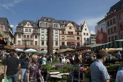 MAINZ, GERMANY Farmer market Royalty Free Stock Photo