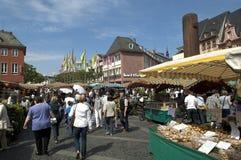 MAINZ, GERMANY Farmer market Stock Photo