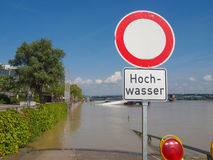 Mainz Germany flood Royalty Free Stock Image