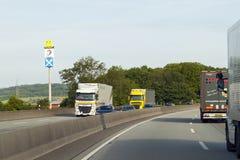Mainz, Germany - June 12, 2017: Heavy traffic on autobahn, germ stock image