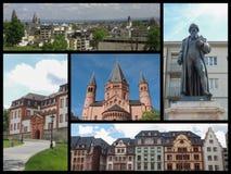 Mainz landmarks collage Stock Image