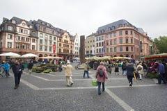 Mainz Market square Stock Photo