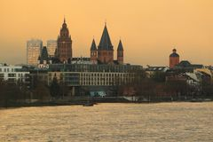 Mainz at sunrise Royalty Free Stock Image