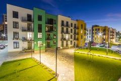 Mainz Tyskland - November 12, 2017: Nya bostads- byggnader på Royaltyfri Foto