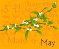 Maio ilustração stock