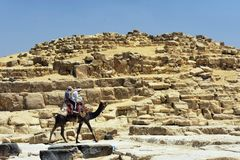 maio, 6, 2019 As pir?mides de Giza, o Cairo, Egito fotografia de stock royalty free